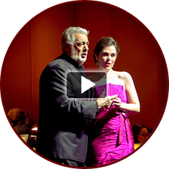 Sarah Jane and Placido Domingo